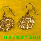 Gold Flower  Pierced Earrings