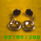 Gold Button n Hole Pierced Earrings
