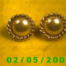 Gold n Pearl Pierced Earrings