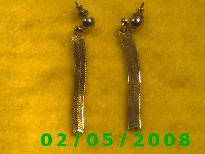 Gold Bead n Tassel Pierced Earrings
