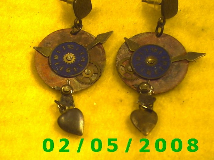 Clock Pierced Earrings