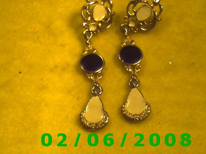 Gold Dangle Pierced Earrings