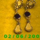 Gold Dangle Pierced Earrings