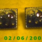 Crystal Beaded Squares Pierced Earrings