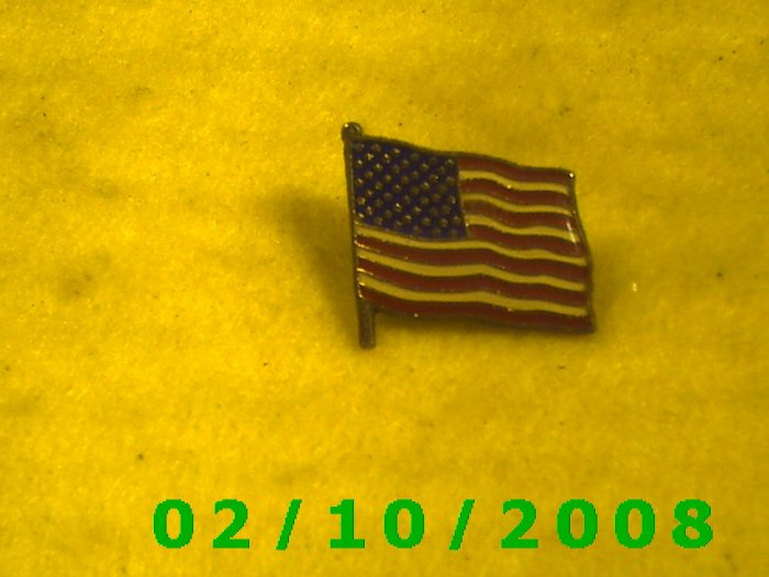 US Flag Hat Pin