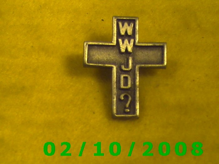 WWJD Cross Hat Pin