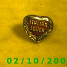 Italian Lover Heart Hat Pin