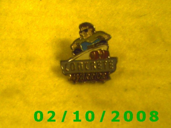 Concrete Warrior Hat Pin