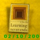 Learning Never Ends Hat Pin
