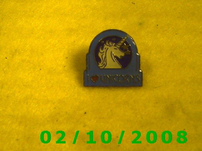 I Love Unicorns Hat Pin