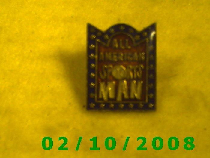 All American Sports Man Hat Pin