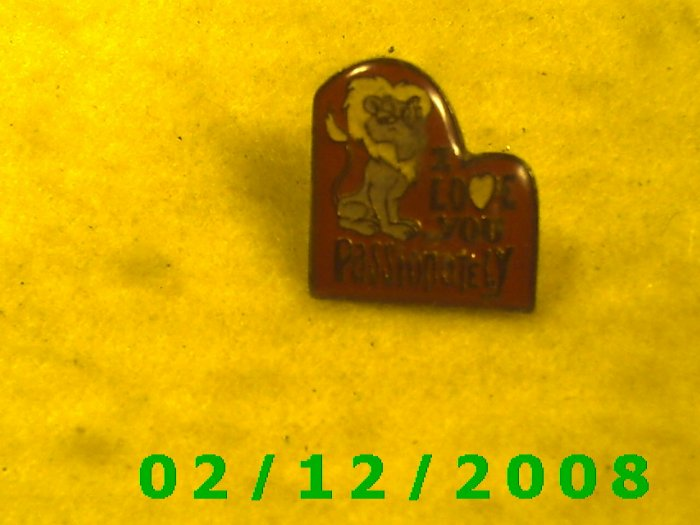 I Love You Passionately Hat Pin