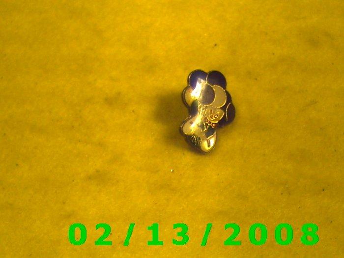 Man w/Balloons Hat Pin