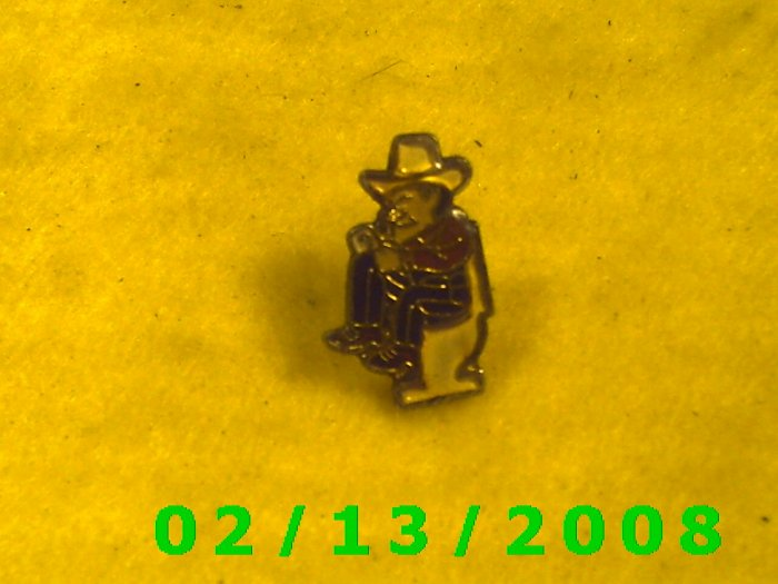 Cowboy on Stool Hat Pin