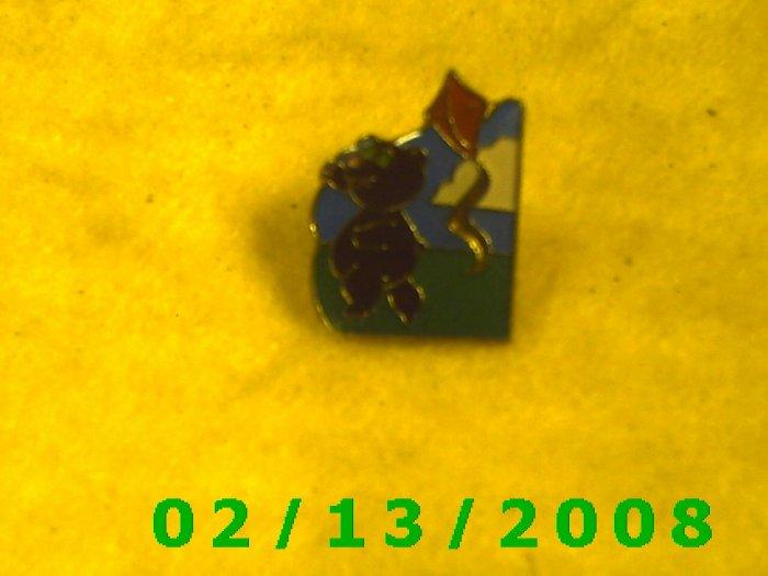 Bear Flying Kite Hat Pin