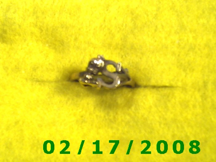 Ring Solid Gold, 10kt w/S, + tweety bird    size 7 (F006)