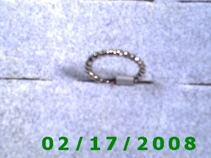 Silver Ring size 1 twisted rope design