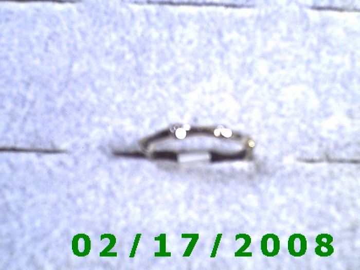 Silver Ring size 3 bamboo like design