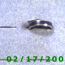.925 Silver Ring w/blue inlay