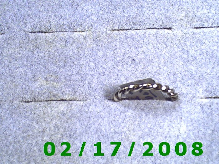Silver Ring size 5 twisted rope design