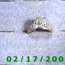 Sterling Ring size 7 diamond cut shaped like crown