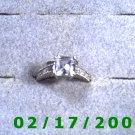 Silver .925 Ring size 7 w/square clear stone