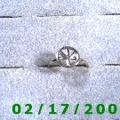 Silver Ring Hippi Peace Size 5