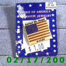 American Flag Lapel Pin 9-11-01 United We Stand