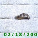 .925 Silver Ring size 4 1/2 gothic style (001)