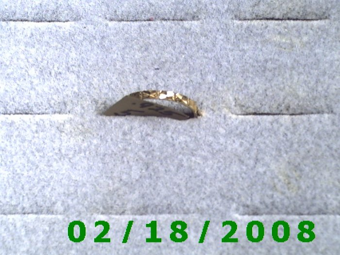 .925mws Gold over silver Ring size 5 wedding band