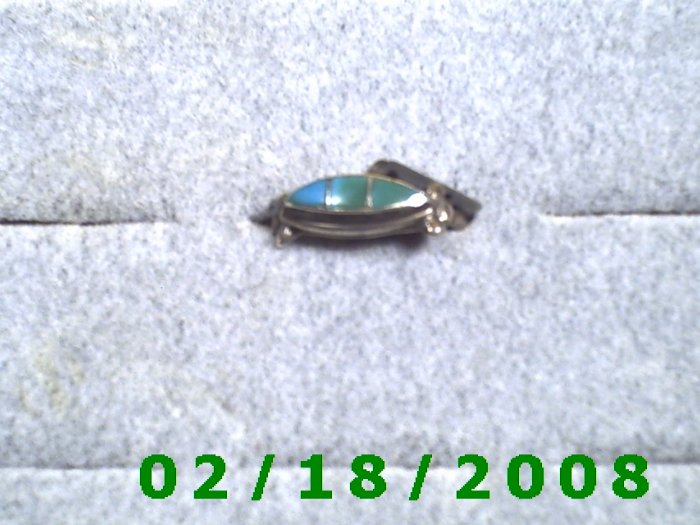 Silver Ring size 6 w/tourquise setting