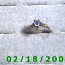 .925 Silver Ring size 6 w/blue stone