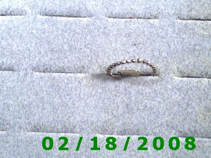 .925 Silver Ring size 6 with beaded look