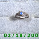 .925 Silver Ring size 7 w/blue stone