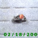 Silver Ring size 8 w/orange stone