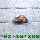 Silver Ring size 8 w/orange stone