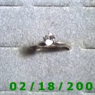 .925 Silver Ring size 8 w/clear stone (engagement)