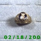 Gold Shield Guard Ring, Air Force, size 11,  Warranty