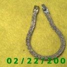 """7 1/2"""" Gold Plated Bracelet 6mm wide(026)"""