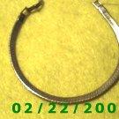 """7"""" Gold Plated Bracelet 5mm wide (028)"""