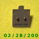 Earrings Hypo Allergenic 1.5 mm Gold bead