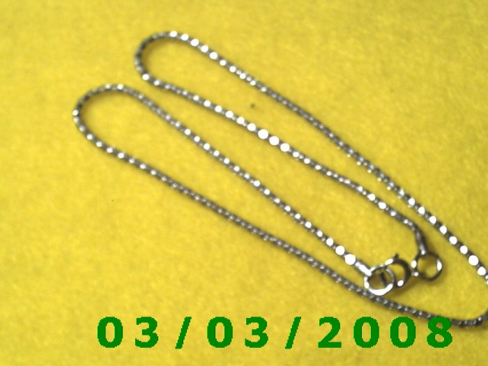 "18"" Silver Necklace (006)"