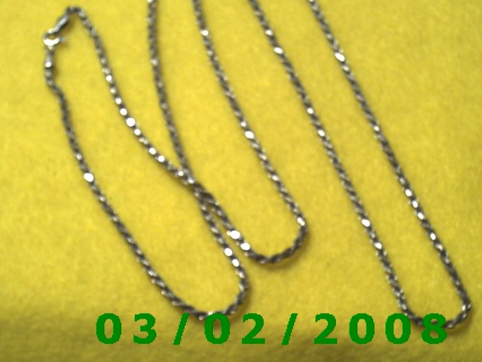 """30"""" .925 Silver Italy Necklace (003)"""