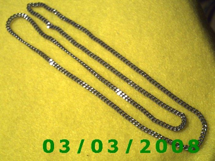 """24"""" Silver Necklace no clasp (013)"""
