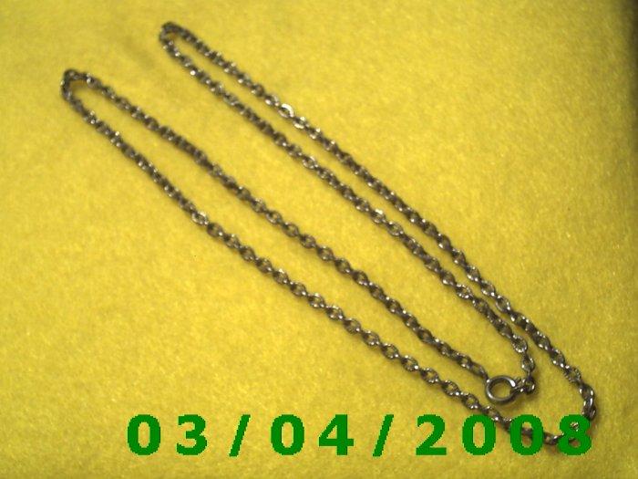 "24"" Silver Necklace (018)"