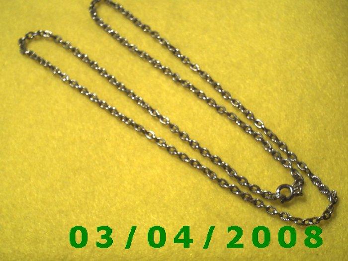 "25"" Silver Necklace (027)"