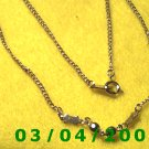 "16"" Gold Necklace (a049)"
