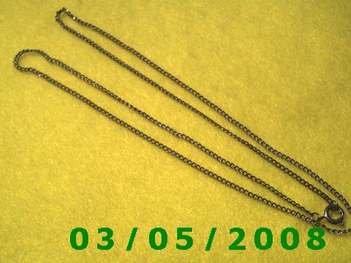 "24 1/2"" Silver Necklace (018)"