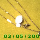 "15"" Gold Birthstone Necklace, February, Amethyst (023)"