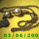 "29"" Gold Necklace w/Pearls n tassle (015)"